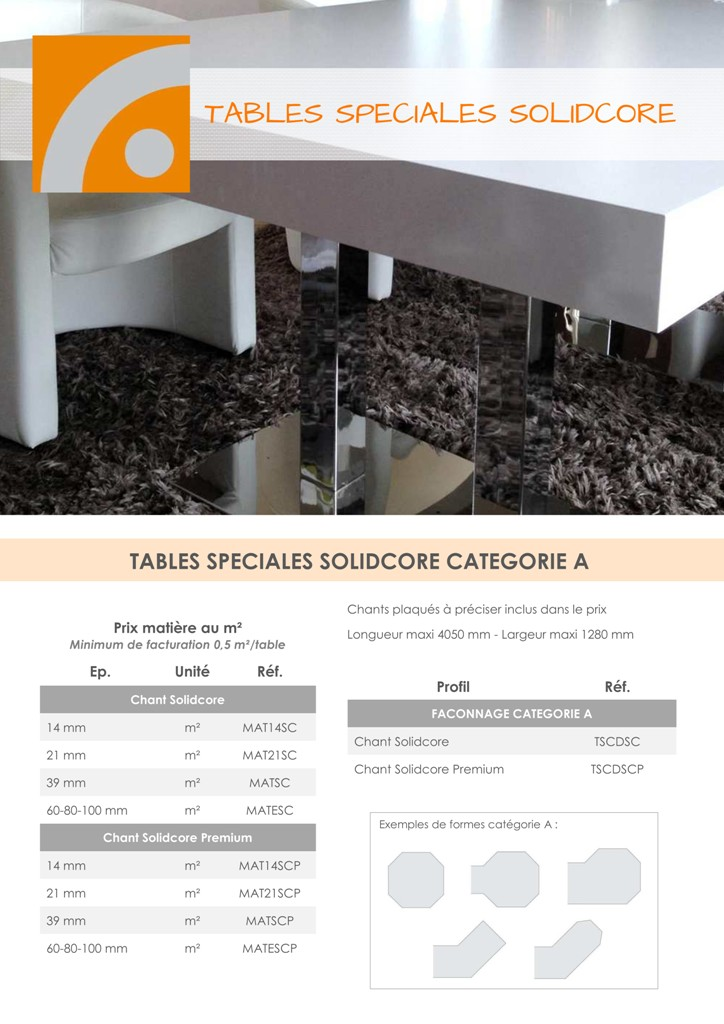 table solidcore